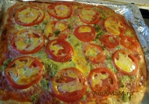 Рецепт пиццы с майонезом
