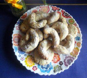 Домашнее печенье в виде поддковы или полумесяца - рецепт и фото с орехами