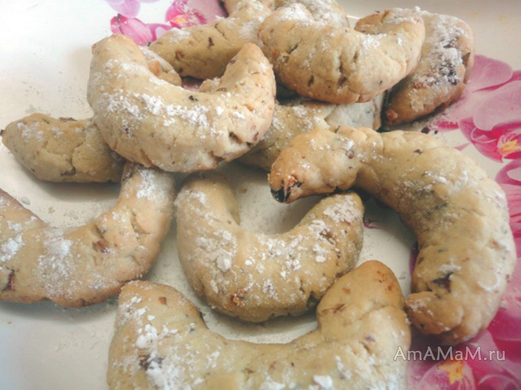 Печенье с грецкими орехами - рецепт и фото