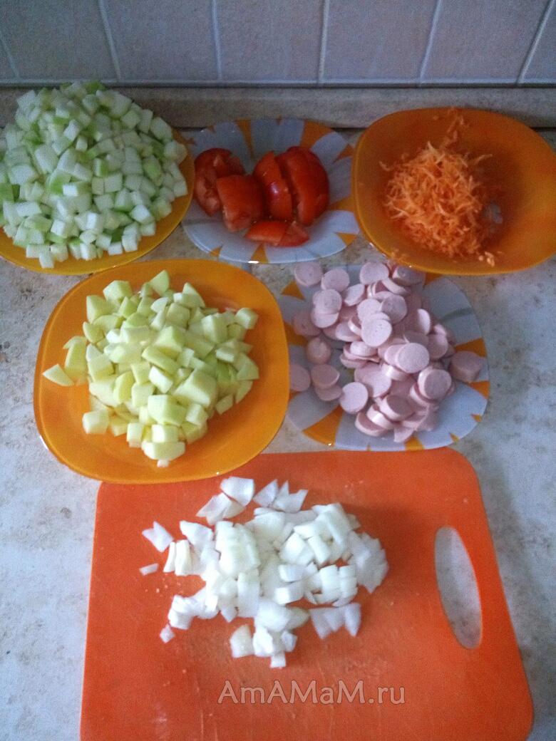 Нарезка овощей для рагу - фото