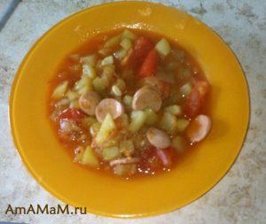 Вкусное овощное рагу из кабачков и картошки