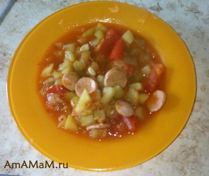 Рецепт рагу из овощей с кабачками и картошкой — 9