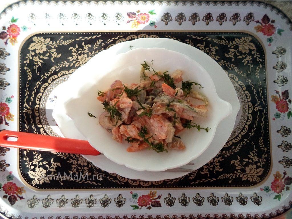Рецепт салата с опятами - просто и вкусно