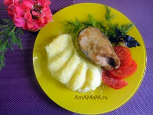 Рецепт стейков кеты в сухарях -пошаговый рецепт с фото