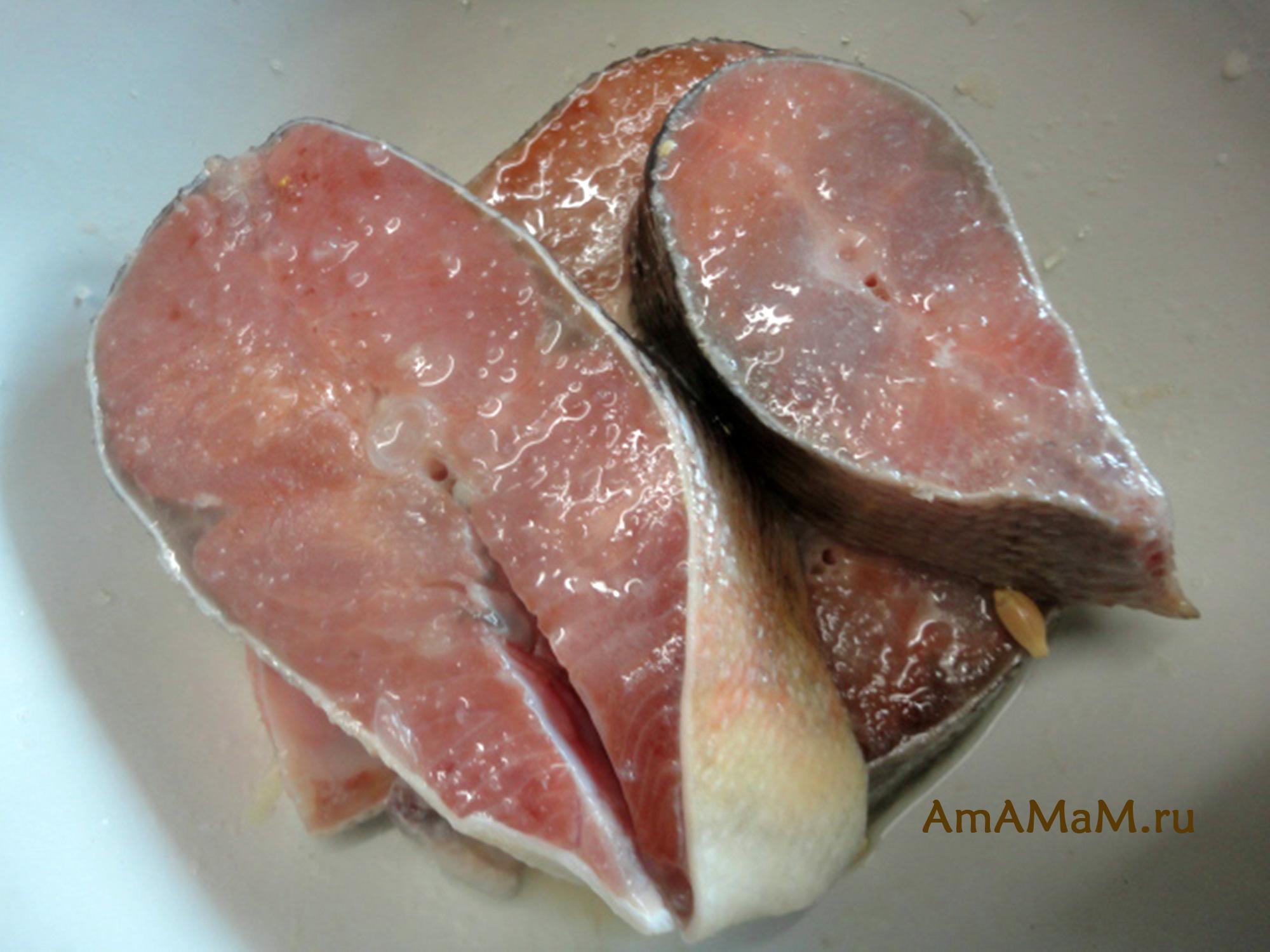 Рецепт жареных стейков кеты