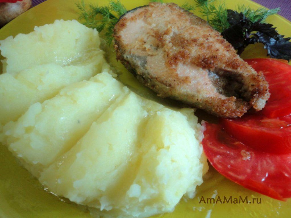 Рецепт приготовления красной рыбы в стейках - кета жареная