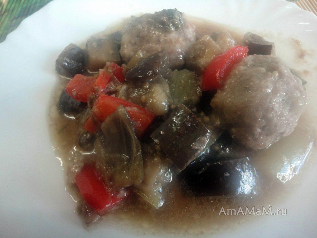 Рецепт овощного рагу с фаршем