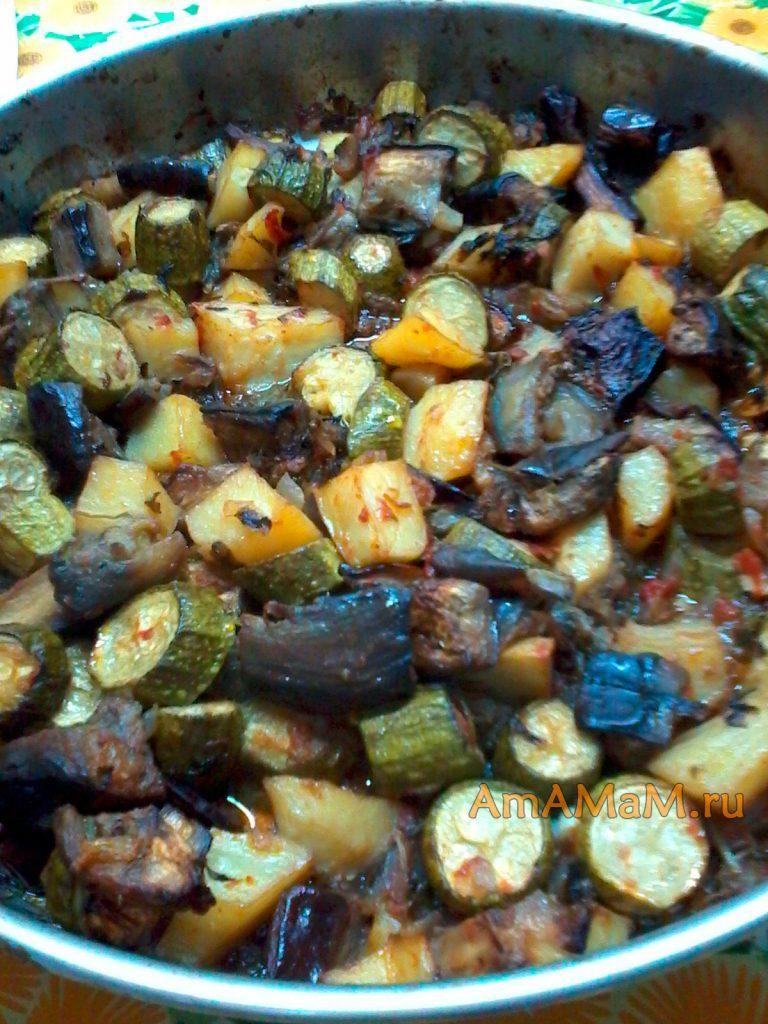 Рецетп запекания овощей в духовке с пошаговыми фото