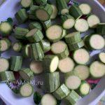 Способ нарезка\и кабачков для запекания овощей в духовке (бочонками)