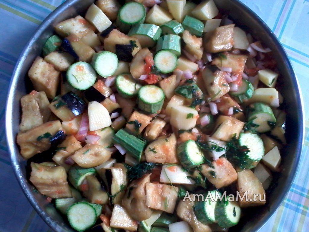 Приготовление овощей в духовке - рецепт с фото