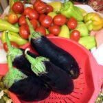 Баклажаны, перец болгарский сладкий, помидоры