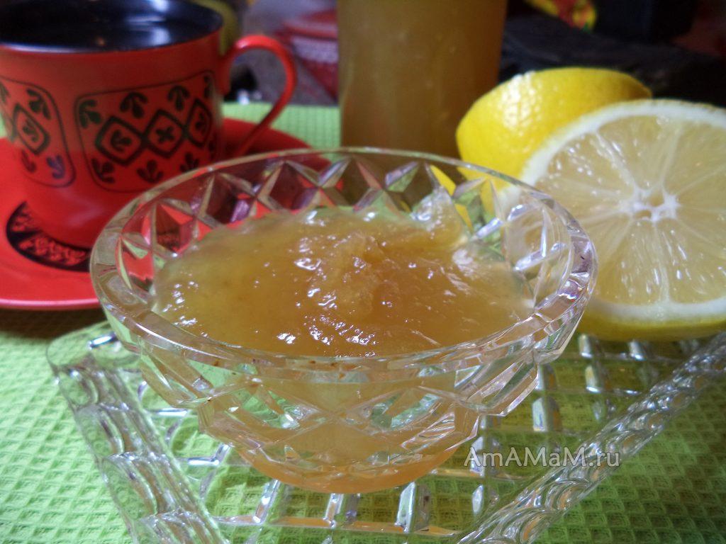 Яблочно-лимонно-дынный джем