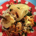 Перец фаршированный - овощная начинка с макаронами