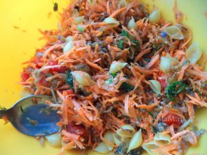 Начинка из овощей и макарон для сладкого перца