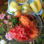 Овощная часть начинки для сладкого перца