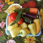 Ингредиенты рецепта фаршированного перца с начинкой и из овощей и макарон