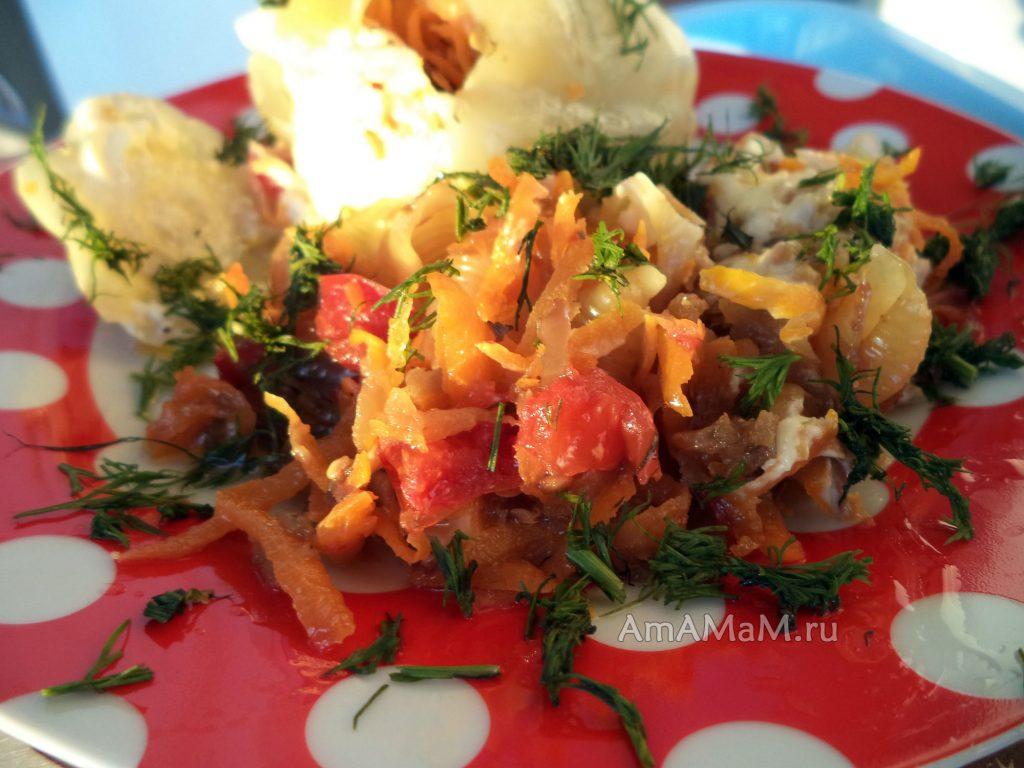 Запеканка из овощей, натертых на терке