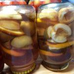 Приготовление компота с грушами и яблоками на зиму