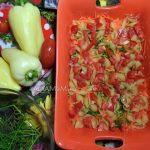 Гювеч - запеканка из овощей с макаронами и курицей