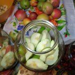 Брусничный компот с яблоками и грушами