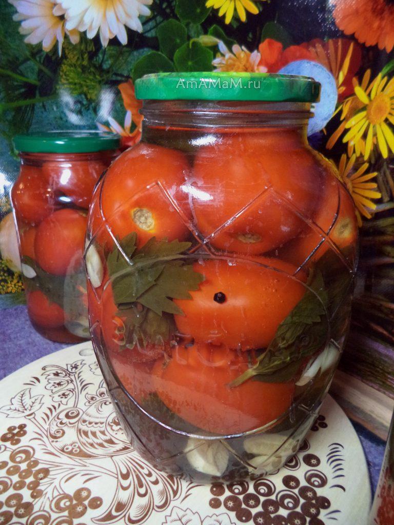 Банки с помидорами и рецепт консервирования своими руками