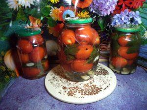Помидоры на зиму без стерилизации - рецепт с сельдереем