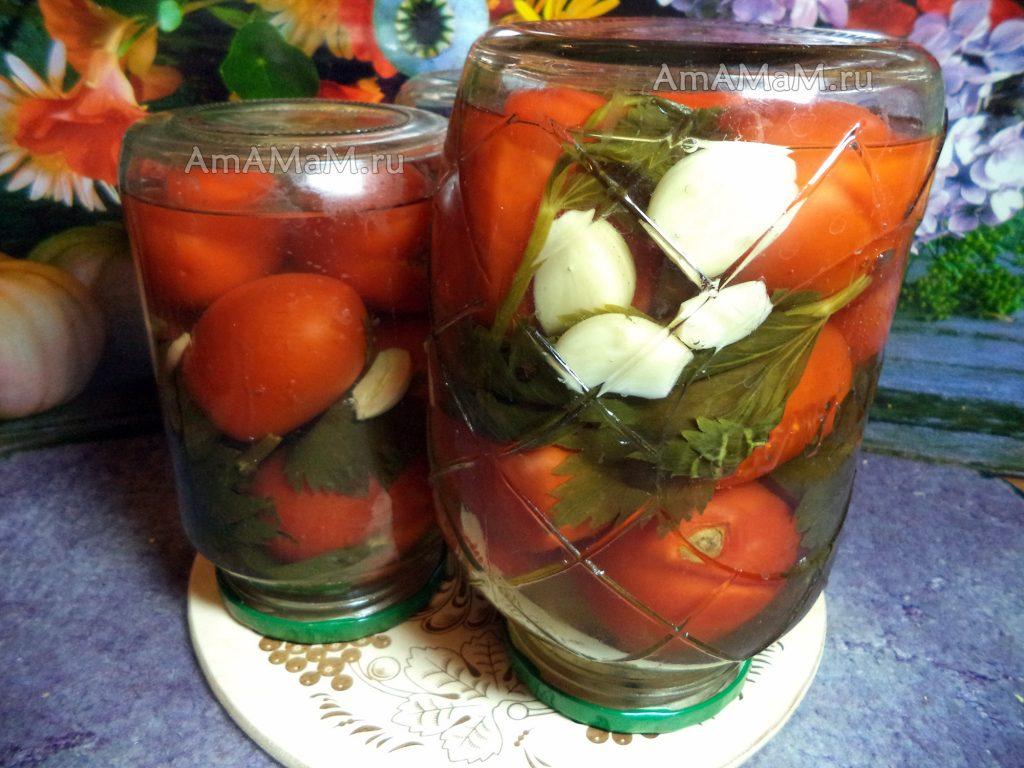 Заготока помидоров без стерилизации - рецепт с сельдереем и фото