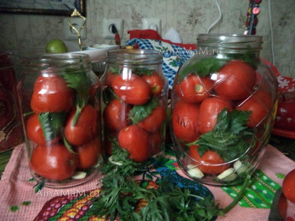 ПОмидоры с сельдереем - рецепт приготовления