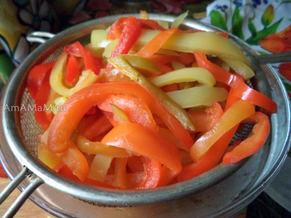 Приготовение маринованного перца рецепт на зиму