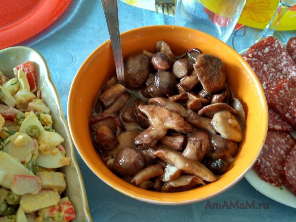 Маслята в маринаде - простой рецепт с фото