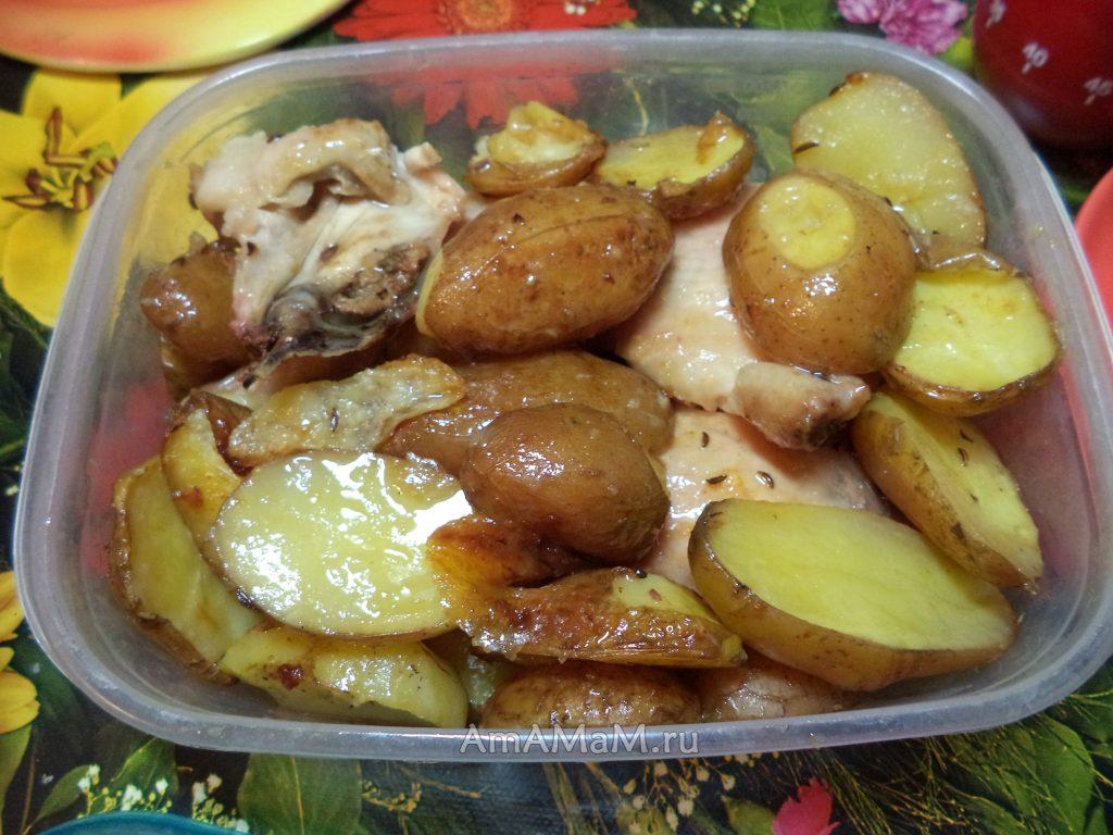 Картофель - рецепт запекания с курицей