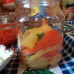Сладкий перец - печеный с мятой и чесноком, салат