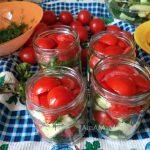 Рецепт заготовки салата помидоры огурцы укроп