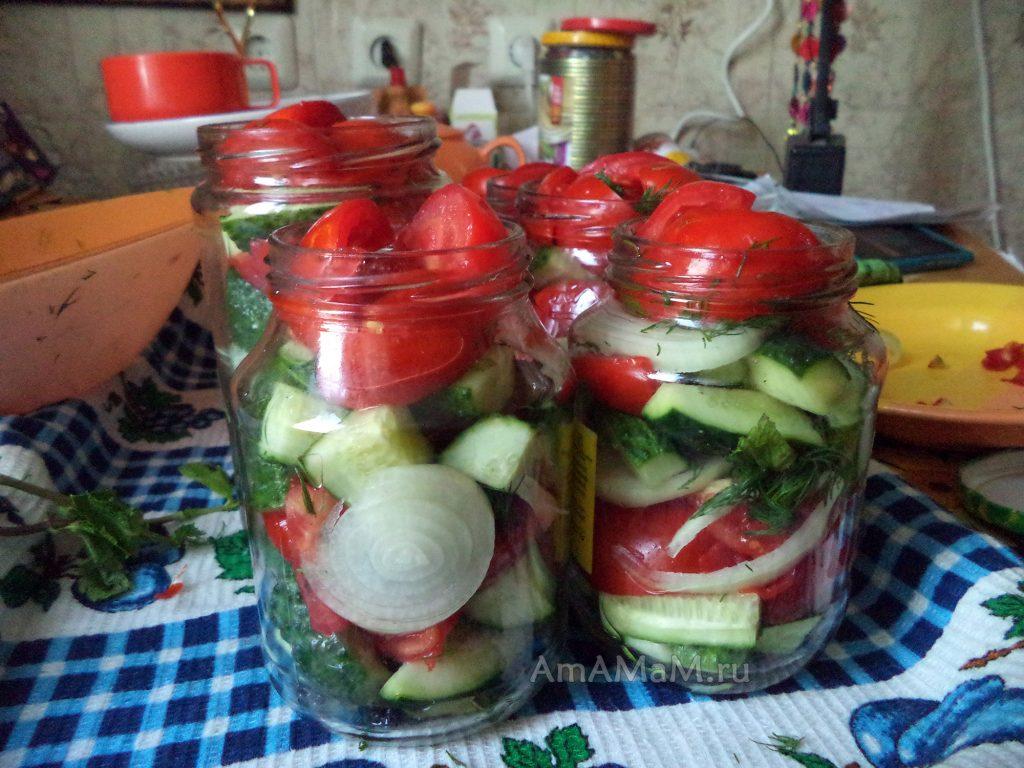 Салат из огурцов на зиму пошаговый рецепты