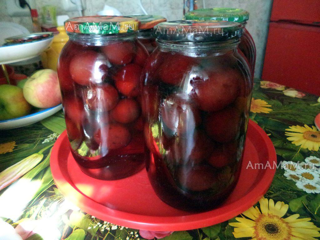 Вкусный компот из слив - рецепт без стерилизации