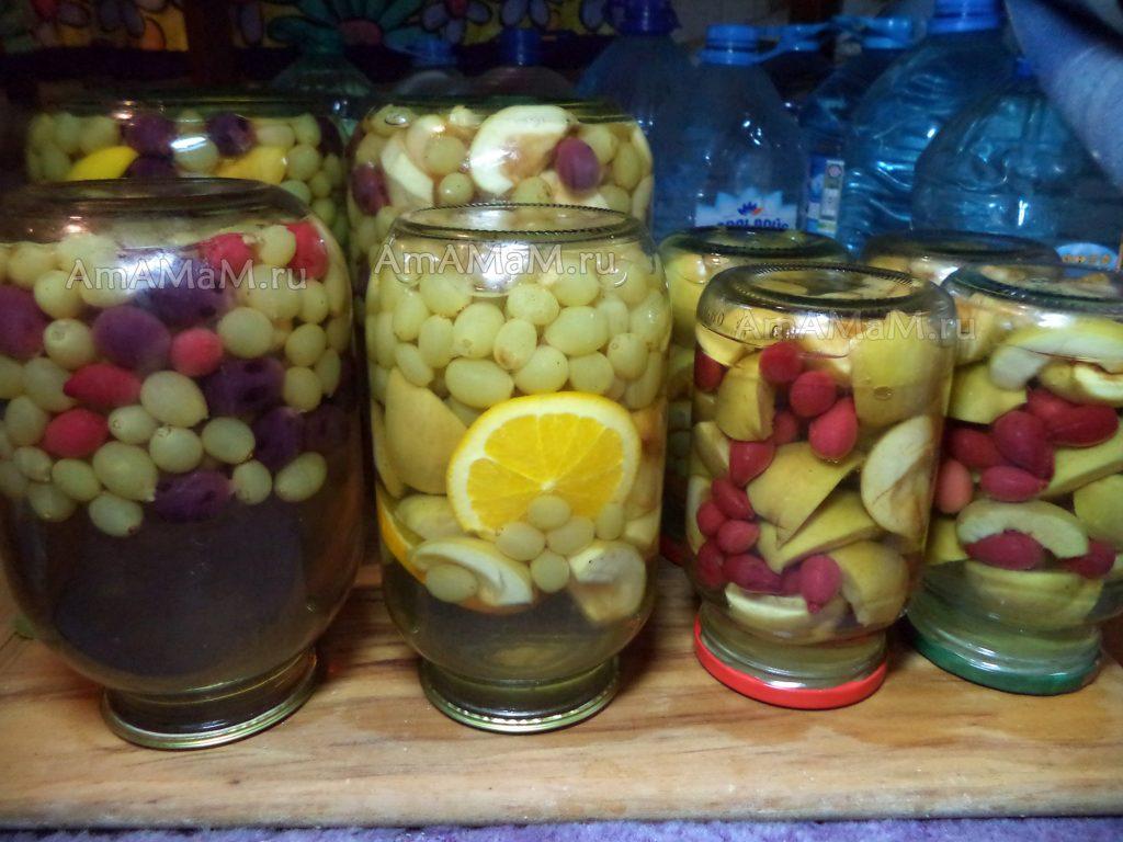 Рецепты компота из винограда на зиму с фолто