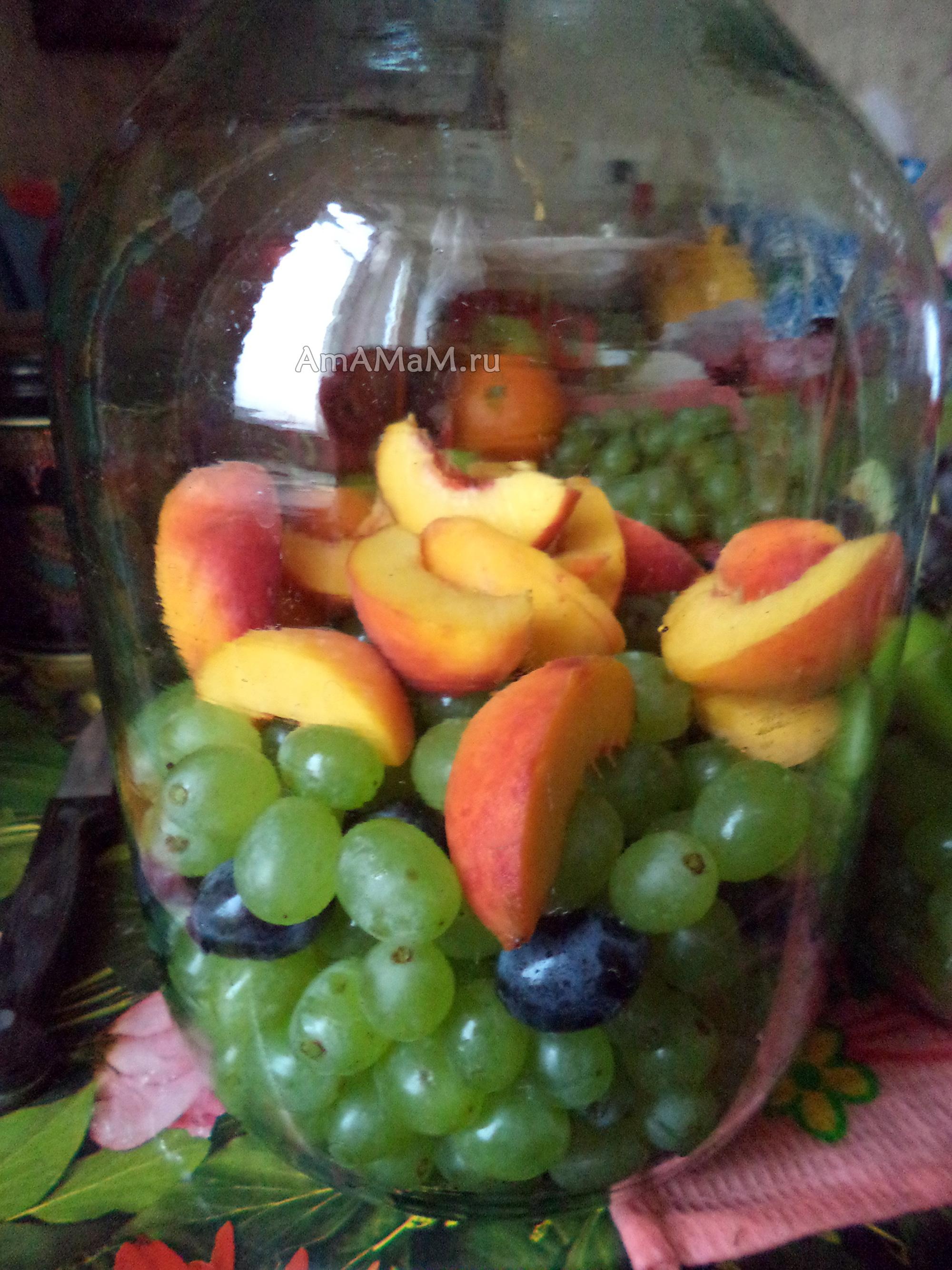 Компот из винограда на зиму - простой рецепт с пошаговыми фото 34