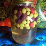 Компот из винограда на зиму (с яблоками, персиками, апельсинами и кизилом)
