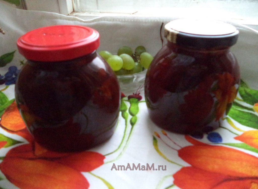 Рецепт виноградного варенья с яблоками и лимонами