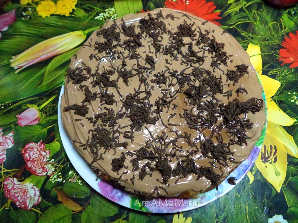 Рецепт шоколадного яблочного пирога