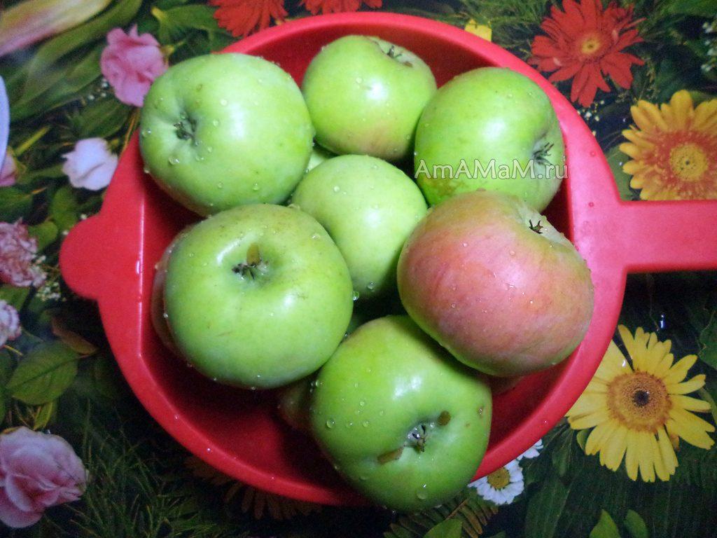 Яблоки для компота - рецепт на зиму
