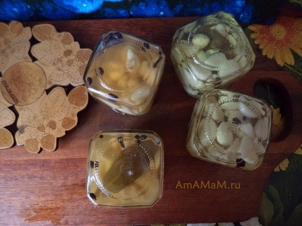 Маринованный чеснок - пошаговый рецепт с фото