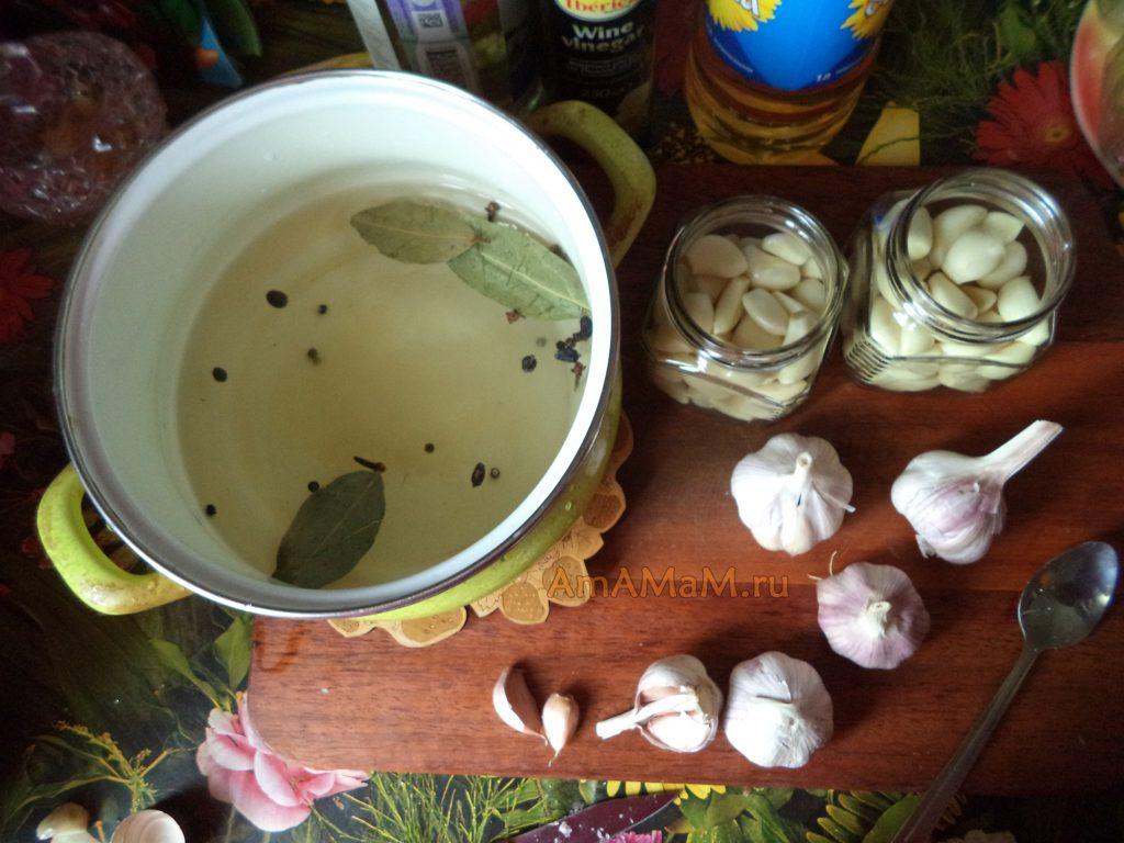 Маринад для чеснока - рецепт и фото
