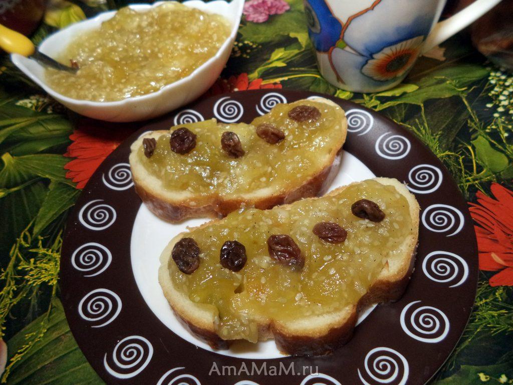 Десерт из яблок и кунжута - рецепт