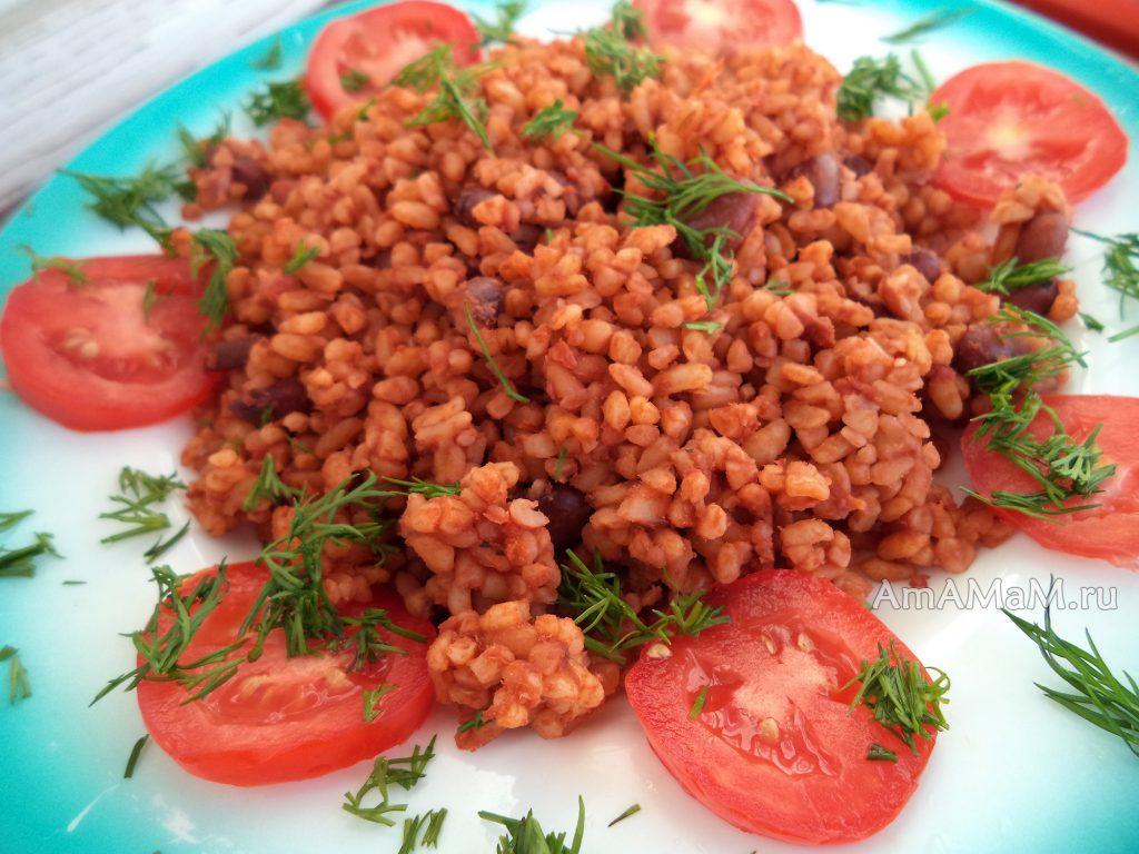 Приготовление фасоли в томате - фото и рецепт