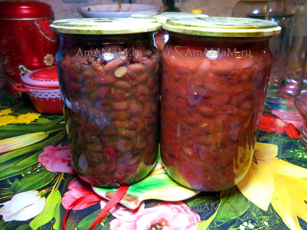 Фасоль в томате на зиму - простой рецепт для хранения при комнатной температуре