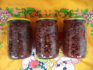 Рецепт фасоли в томате -заготовка на зиму