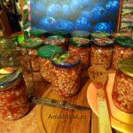 Заготовка фасоли с помидорами на зиму