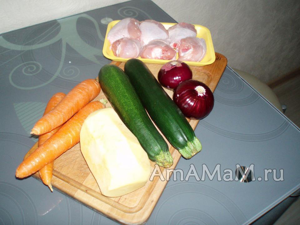 Овощи и курица для запекания в духовке - что требуется