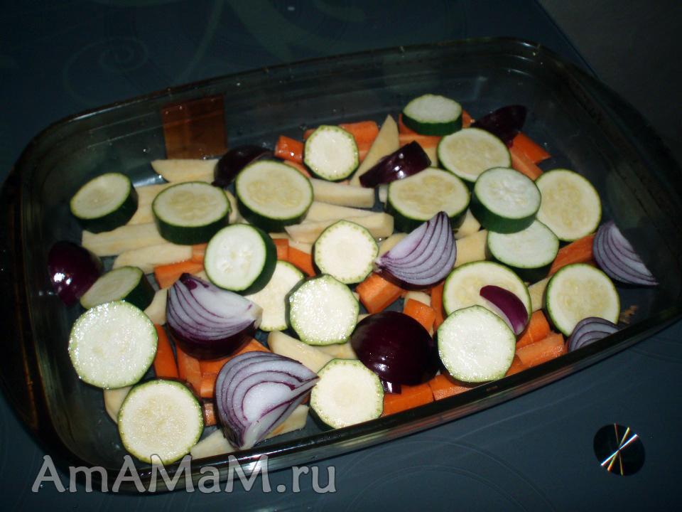 Приготовление овощного рагу с кусочками курицы - рецепт